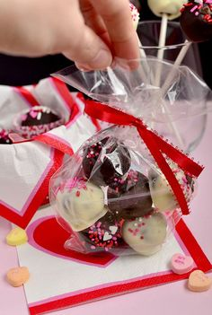 Brownie Mix Truffles are festive, sweet, and super easy. Make and package then give to your loved ones! I've got the cutest little Valentine's Day treat to share with you which calls us to all channel our inner Sandra Lee. Brownie Mix Truffles are so sweet and simple, I can hardly even...