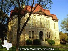 Sutton County Courthouse, Sonora, TX will be seeing this in about 3 days yay !!!! Andmy family