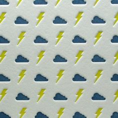 Bolts and Clouds from the folks over at Letterpress Delicacies