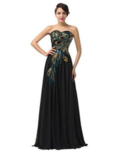Full Length Evening Dresses for Women Chiffon Black Size 2 C-1