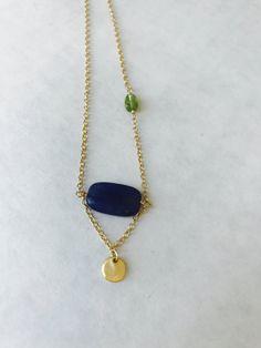 Aventurine Necklace Gemstone Necklace Peridot by BabyLovesBlue