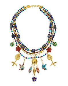 Jose & Maria Barrera Multicolor Crystal Bangle Bracelet ou2xBR