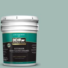 BEHR Premium Plus 5-gal. #S430-3 Garden Twilight Semi-Gloss Enamel Exterior Paint