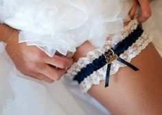 "Notre Dame Irish wedding garter...   Like the Irish?  Be sure to check out and ""LIKE"" my Facebook Page https://www.facebook.com/HereComestheIrish  Please be sure to upload and share any personal pictures of your Notre Dame experience with your fellow Irish fans!"