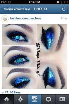 #sparkly makeup #prom #makeup