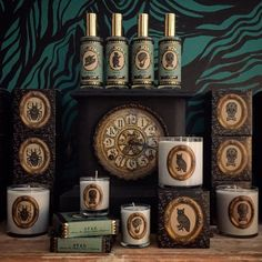 Our candle, fragrance and soap collection in the shop!