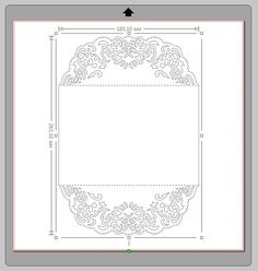 This laser cut invitation gate fold card template was created using my original hand drawn design. Perfect for Baby Showers, Birthdays, Christening, Weddings, Cardmaking etc. (Can be used with Cricut, Silhouette Cameo, Brother Scan and Cut and other cutting machines). You can