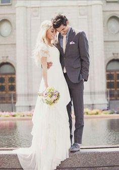 I wish we would have gotten a cool shot like this in front of the reflection pool at the Salt Lake Temple