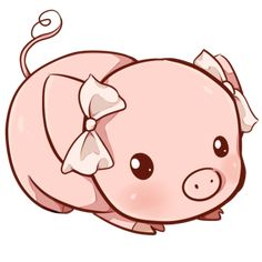 Kawaii pig by Dessineka on DeviantArt 365 Kawaii, Kawaii Pig, Kawaii Cute, Kawaii Drawings, Cute Animal Drawings, Cute Drawings, Cute Baby Pigs, Cute Piggies, Cute Images