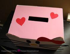Hello Kitty Valentine Mail Box Top
