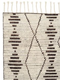 Zulu Rug   Modern Market - Contrasting lines and patterning capture the energy of traditional monochromatic tribal designs. With a mix of high and low pile, this design adds texture and warmth.