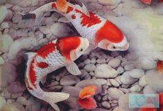Koi Fish PDF Cross Stitch Pattern by XSquaredCrossStitch on Etsy