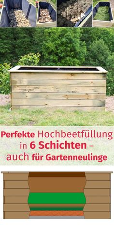 Hochbeet also fill for garden beginners without green waste with favorable ma DIY Deko Garden Types, Diy Garden Projects, Diy Garden Decor, Garden Ideas, Plantador Vertical, Raised Garden Beds, Raised Beds, Plantar, Begonia