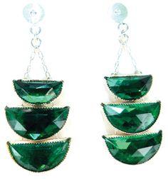 antique crystal earrings from 1920's paris by Bon Bon Oiseau