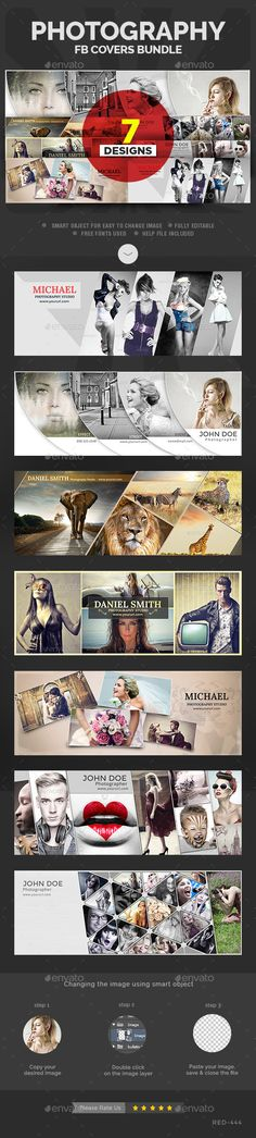 Photography Facebook Cover Bundle - 7 Designs Template Download: http://graphicriver.net/item/photography-facebook-cover-bundle-7-designs/12375643?ref=ksioks
