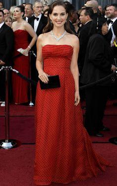 Oscars 2012- Natalie Portman de lunares vintage