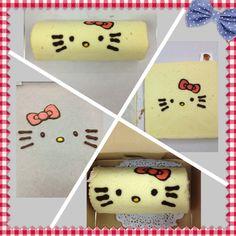 Hello kitty cake roll