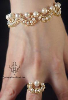 Свадебный комплект | biser.info - всё о бисере и бисерном творчестве