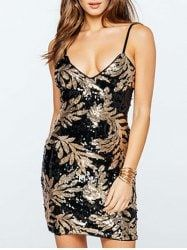 Spaghetti Slip Fitted Night Out Dress - BLACK
