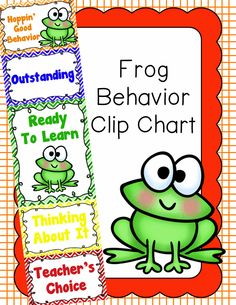 Behavior Clip Chart - Behavior Management - FROGS, $