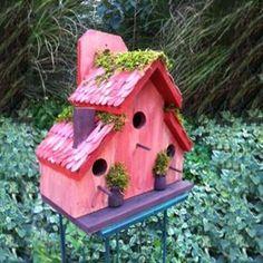 Pink Cottage Bird Bird House