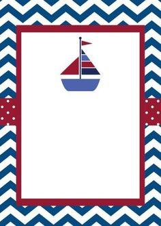 Invitaciones de Nautica (marinero) Sailor Baby Showers, Baby Boy Shower, Baby Showers Marinero, Deco Buffet, Sailor Theme, Nautical Party, Sea Theme, Album Photo, Baby Shower Invitations