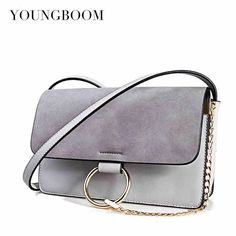 ed2793685d Hot Sale Bags Women Vintage Handbags Retro Nubuck Leather Crossbody Bags  Chain Circle Ring Shoulder Bags
