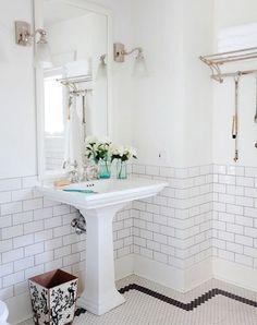 Penny tiles_black border - use gray in Girls baths