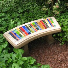 33 ideas garden bench diy mosaic projects for 2019 Mosaic Diy, Mosaic Garden, Mosaic Crafts, Mosaic Projects, Glass Garden, Mosaic Tiles, Tiling, Stone Mosaic, Mosaic Glass
