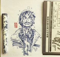 Robot Concept Art, Robot Art, Dope Cartoon Art, Arte Cyberpunk, Drawing Sketches, Drawings, Futuristic Art, Dope Art, Art Sketchbook