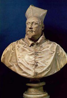 Galleria Borghese. 1632. prima versione del busto di Scipione Borghese.