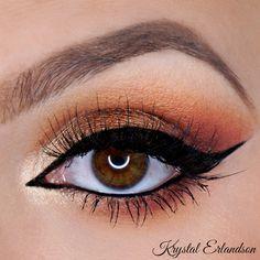 Makeup Geek Eyeshadows in Bitten, Chickadee and Morocco + Makeup Geek Foiled Eyeshadow in Magic Act. Look by: Krystal Erlandson
