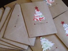 Christmas Cards  #handmade #christmastree #merrychristmas @Jenn L Milsaps L Goodman Darbison
