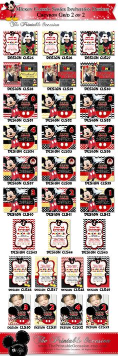 Items similar to HUGE SELECTION Mickey Mouse Polka Dot Birthday Invitation, Red Clubhouse Mickey Mouse Printable Invitation, First Second Third Birthday on Etsy Mickey Mouse Birthday Invitations, Minnie Mouse Party, Polka Dot Birthday, Third Birthday, Printable Invitations, Party Printables, Invites, Red And Blue, Yellow Black