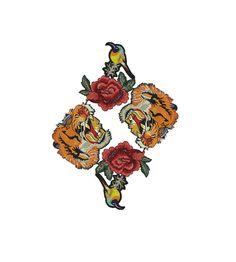 Embroidered Tiger Animal Patch Applique, Bulk Mix Patches Badges for Fashion Crafts 5 pcs #etsy #etsyshop #diyfashion #patchapplique