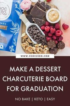 Looking for graduation dessert ideas? Make this dessert charcuterie board! Beautiful and delicious, it will be a hit with everyone. Full of keto, low sugar, and low carb options, you'll want to eat the whole thing! How to make a charcuterie board. ChocZero creates healthier treats with quality ingredients. Enjoy keto-friendly, sugar-free chocolate and syrup that tastes incredible. Enjoy our low-carb, keto, gluten-free, and sugar-free recipes that use our delicious keto chocolate and syrups. Quick Keto Dessert, Healthy Dessert Recipes, Snack Recipes, Savory Snacks, Easy Snacks, Sugar Free Recipes, Low Carb Recipes, Graduation Desserts, Low Sugar Desserts