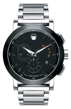 Movado 'Museum Sport' Chronograph Bracelet Watch, 44mm ✤ #stylefromachitownerseye