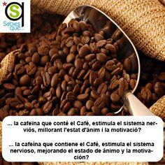 La cafeína que contiene el #Cafe estimula el sistema nervioso, mejorando el estado de ánimo y la motivación / La cafeïna que conté el #cafe estimula el sistema nerviós, millorant l'estat d'ànim i la motivació