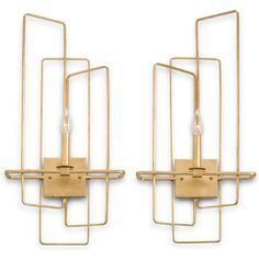 Sold as a Set or Individually Material: Wrought Iron Finish: Contemporary Gold Leaf *Certified for Damp Location