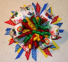 Mario Brothers Over the top Stacked Hair Bow by sotweetbowtique, $8.00