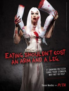 Sharon Needles from RuPaul's Drag Race gets zombified for PETA!