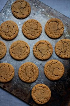 Easy Molasses Crinkle Cookies. One bowl and olive oil instead of butter- which makes the crispiest edges and chewiest middles.