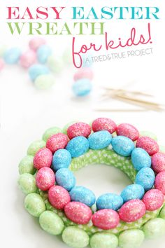 Easy Easter Egg Wreath for Kids - A Tried & True Project
