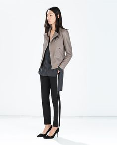How stunning is Zara's new cool tone gray leather jacket?!