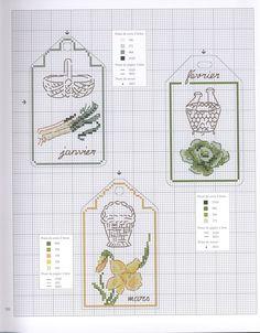 Dans Mon Jardin au Point de Croix Book - L'éphéméride des saisons (1-3)