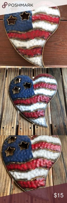 I just added this listing on Poshmark: FINAL PRICE Metal July 4th HEART. #shopmycloset #poshmark #fashion #shopping #style #forsale #Other