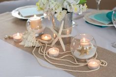 Sand, Pearls and Starfish Wedding Party Ideas