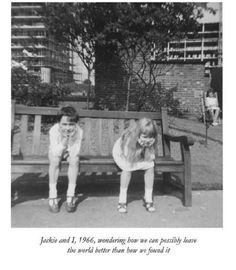 Morrissey aged 6, and his sister Jacqueline aged 7 (1966).