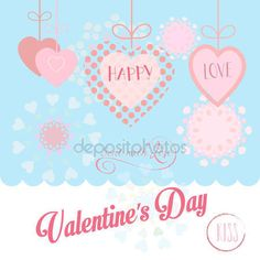 Valentines Day or Wedding Day greeting card hearts, festive pink hand made background Vector template. Romantic poster. Love, Romance Event, banner, e-card, Typography postcard envelope. Advertising, Calligraphy retro design — Stock Vector © sofiartmedia.gmail.com #140597498
