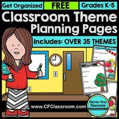Are you planning to decorate your classroom using a classroom theme? This post explains the benefits, helps you pick a theme and teaches you how to plan and implement a classroom theme. Click through for tips and free printables. Elementary Classroom Themes, Classroom Decor Themes, Classroom Organisation, Classroom Setup, Classroom Management, Apple Classroom, Superhero Classroom, Class Management, Upper Elementary